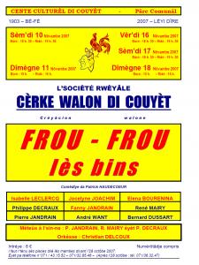 Programme Frou Frou lès bins