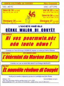 Programme El nouvèle rèvûwe di Couyèt
